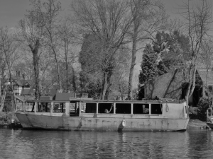 Disused pleasure craft on the Thames at Runnymede, April 21st 2013.