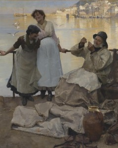 Eyes and No Eyes, Oil on canvas, Frank Bramley, 1857 - 1915 (Penlee Gallery) Frank Bramley is the artist behind one of the Newlyn School's most iconic images - the painting 'A Hopeless Dawn', purchased for the nation in 1888 and now in the Tate collection.